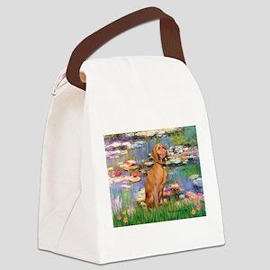 Lilies / Vizsla Canvas Lunch Bag