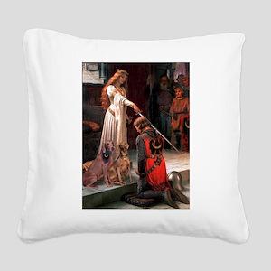 Accolade / Weimaraner Square Canvas Pillow