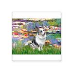 Lilies (#2) - Corgi (Bl.M) Square Sticker 3