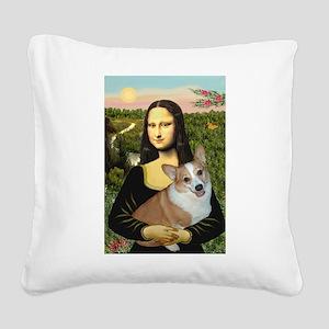 Mona - Corgi (Pembr-L) Square Canvas Pillow