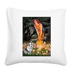 MidEve - Corgi (Bl.M) Square Canvas Pillow