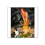 Fairies / Welsh Corgi Square Sticker 3
