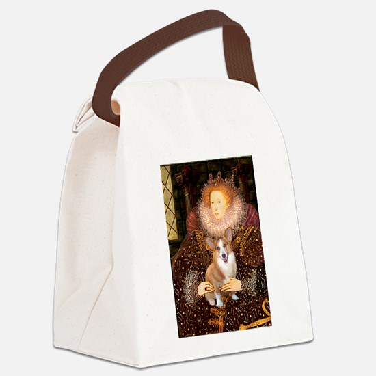 The Queen's Corgi Canvas Lunch Bag