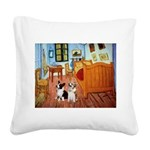 Room / Corgi pair Square Canvas Pillow