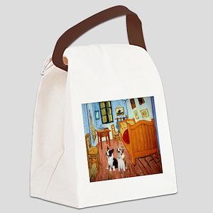 Room / Corgi pair Canvas Lunch Bag