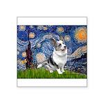 Starry Welsh Corgi (Bl.M) Square Sticker 3