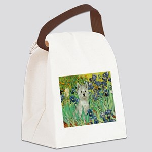 Irises / Westie Canvas Lunch Bag
