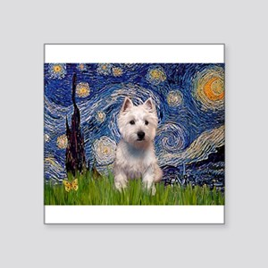 "Starry - Westie (P) Square Sticker 3"" x 3"""