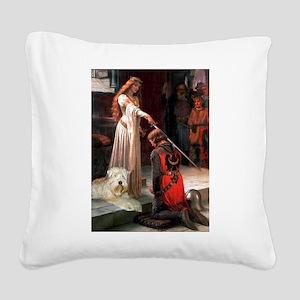 Princess & Wheaten Square Canvas Pillow