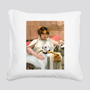 Cleopatria & her Whippet Square Canvas Pillow