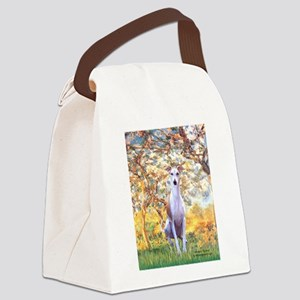 Spring / Whippet Canvas Lunch Bag