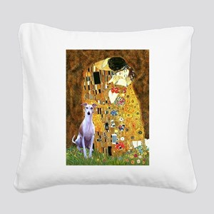 KISS-Whippet8 Square Canvas Pillow