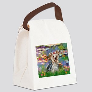 LILIES / Yorkie (T) Canvas Lunch Bag