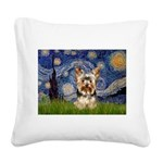 STARRY / Yorkie (17) Square Canvas Pillow