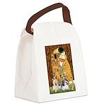KISS/PBGV8+Westie1 Canvas Lunch Bag