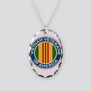 VVA Logo Necklace Oval Charm