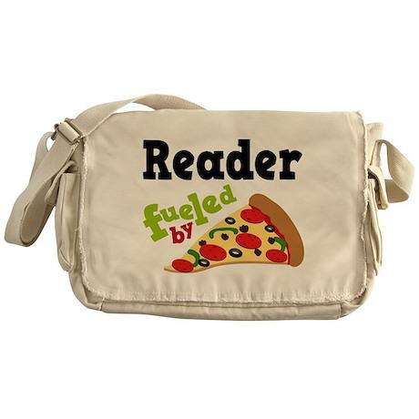 Reader Fueled By Pizza Messenger Bag