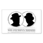 The Frytown Toughs Silho Sticker (Rectangle 50 pk)