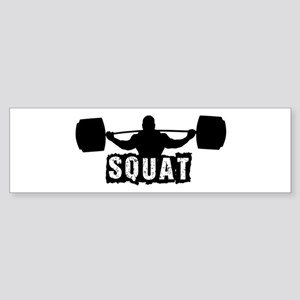 Squat Design. Black. Sticker (Bumper)