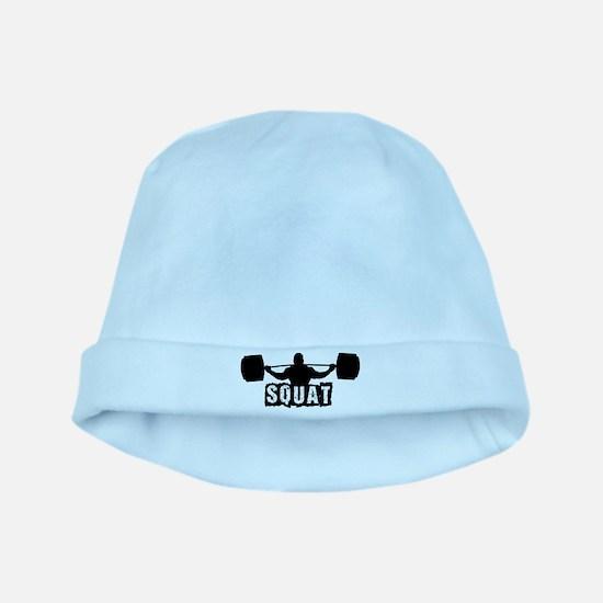 Squat Design. Black. baby hat