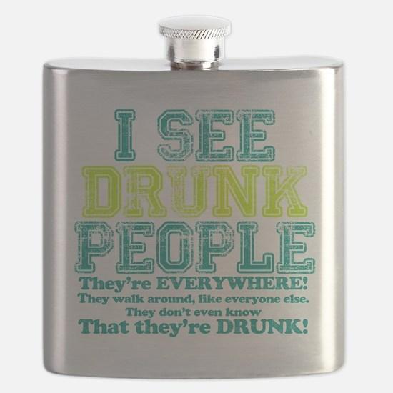 I See Drunk People Flask