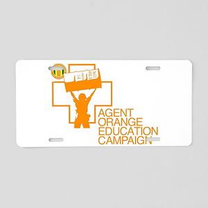 Agent Orange Education Aluminum License Plate