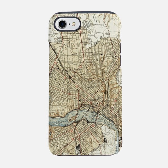 Vintage Map of Richmond Virgin iPhone 7 Tough Case