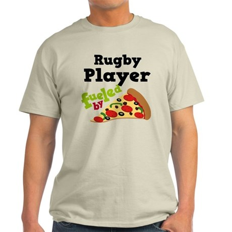 Rugby Player Funny Pizza Light T-Shirt