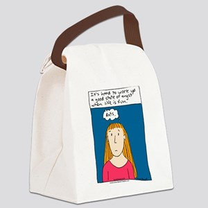Angst Cartoon Canvas Lunch Bag