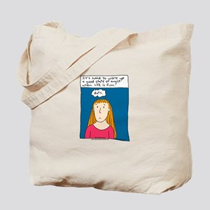 Angst Cartoon Tote Bag