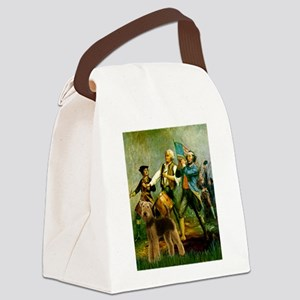 8x10-Spirit76-Airedale6 Canvas Lunch Bag