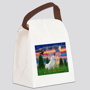 Blessed / Eskimo Spitz Canvas Lunch Bag