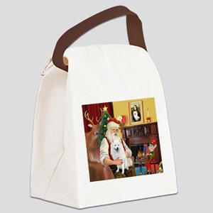 Santa & Amer Eskimo Canvas Lunch Bag