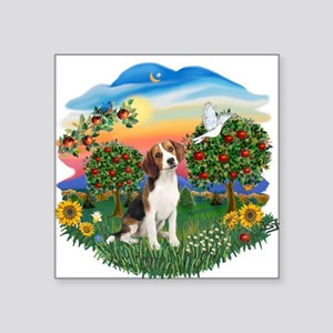 "Bright Country - Beagle 1 Square Sticker 3"" x"