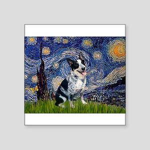 Starry Night/ Australian Catt Square Sticker 3&quo