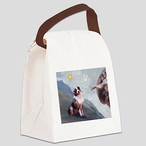 5.5x7.5-Creation2-Aussie1 Canvas Lunch Bag