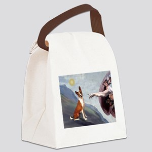 TILE-Creation-Basenji3 Canvas Lunch Bag