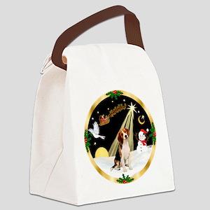 Night Flight/Beagle Canvas Lunch Bag
