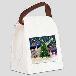 Xmas Magic & Beagle Canvas Lunch Bag
