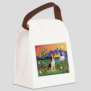 Fantasy Land & Beagle Canvas Lunch Bag