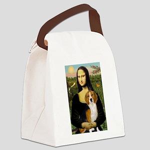TILE-Mona-Beagle7 Canvas Lunch Bag
