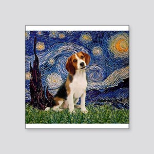 "MP-Starry-Beagle1-nc Square Sticker 3"" x 3"""