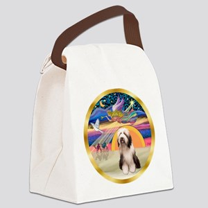 XmasStar/Beardie #1 Canvas Lunch Bag