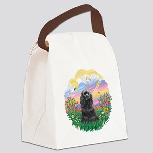 Guardian-Black Cocker Canvas Lunch Bag