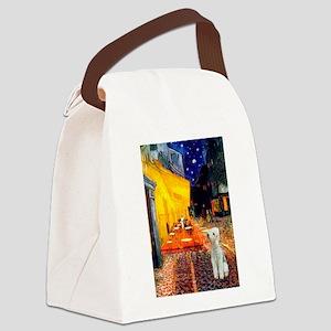 8x10-Cafe-Bedlington1 Canvas Lunch Bag