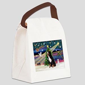Xmas Magic & Bernese Canvas Lunch Bag