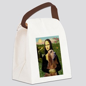 Mona & her Bloodhound Canvas Lunch Bag