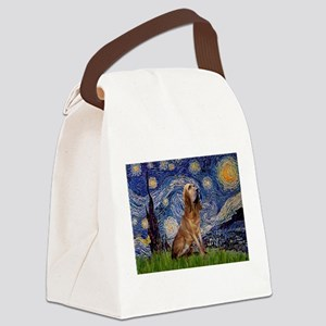 Starry Night Bloodhound Canvas Lunch Bag