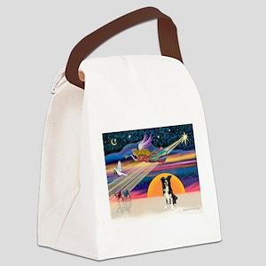 XmasStar/Border Collie 1 Canvas Lunch Bag