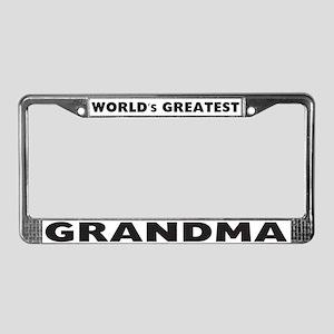 World's Greatest Grandma License Plate Frame